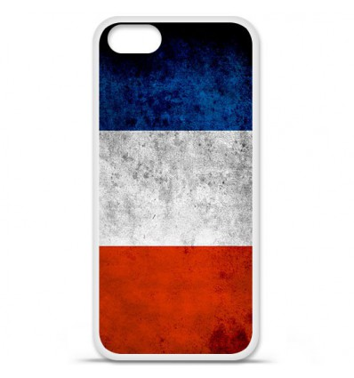 Coque en silicone Apple iPhone SE - Drapeau France