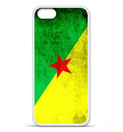 Coque en silicone Apple iPhone SE - Drapeau Guyane
