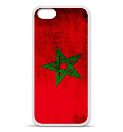 Coque en silicone Apple iPhone SE - Drapeau Maroc