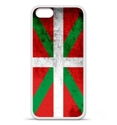 Coque en silicone Apple iPhone SE - Drapeau Basque