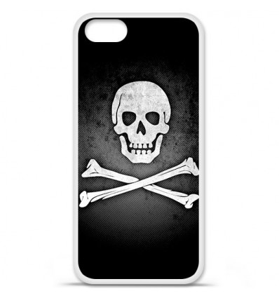 Coque en silicone Apple iPhone SE - Drapeau Pirate