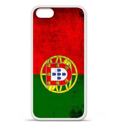 Coque en silicone Apple iPhone SE - Drapeau Portugal