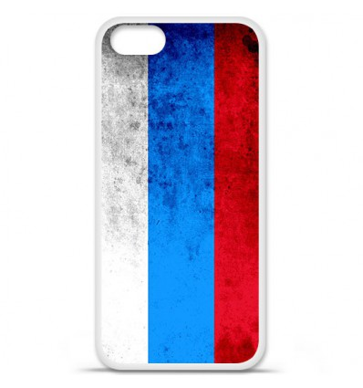 Coque en silicone Apple iPhone SE - Drapeau Russie