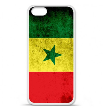 Coque en silicone Apple iPhone SE - Drapeau Sénégal