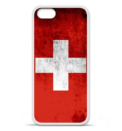 Coque en silicone Apple iPhone SE - Drapeau Suisse