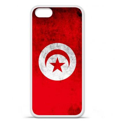 Coque en silicone Apple iPhone 5 SE - Drapeau Tunisie