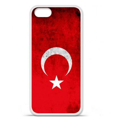 Coque en silicone Apple iPhone SE - Drapeau Turquie