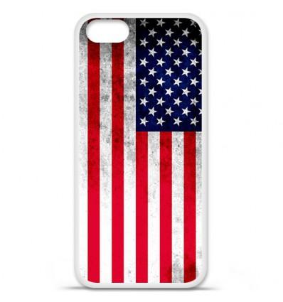 Coque en silicone Apple iPhone SE - Drapeau USA