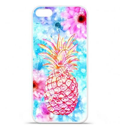 Coque en silicone Apple iPhone SE - Ananas