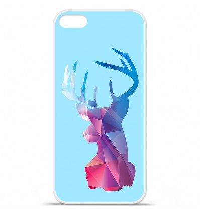 Coque en silicone Apple iPhone SE - Cerf Hipster Bleu