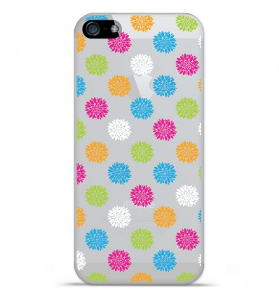 Coque en silicone Apple iPhone SE - Floral