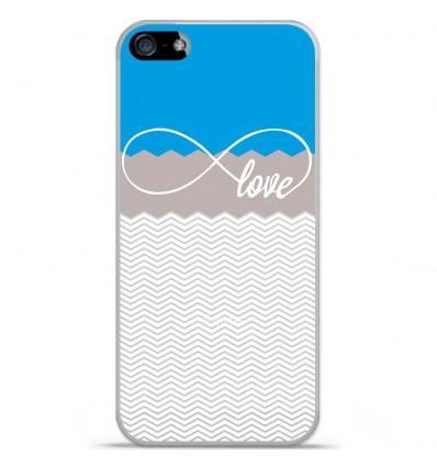 Coque en silicone Apple iPhone SE - Love Bleu