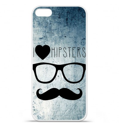 Coque en silicone Apple iPhone SE - I Love Hipster