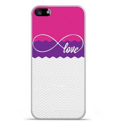 Coque en silicone Apple iPhone SE - Love Rose