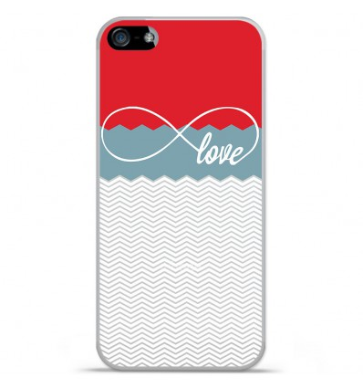 Coque en silicone Apple iPhone SE - Love Rouge