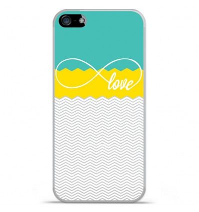 Coque en silicone Apple iPhone SE - Love Turquoise