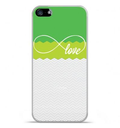 Coque en silicone Apple iPhone SE - Love Vert