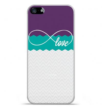 Coque en silicone Apple iPhone 5 SE - Love violet