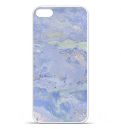 Coque en silicone Apple iPhone SE - Marbre Bleu