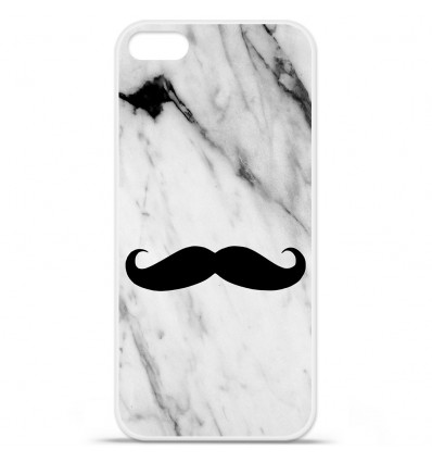 Coque en silicone Apple iPhone 5 SE - Marbre Moustache