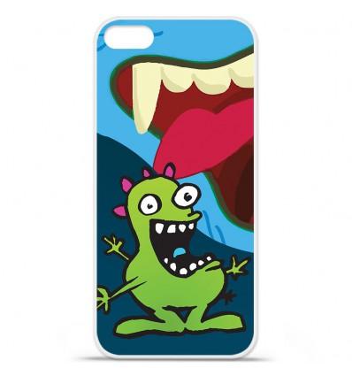 Coque en silicone Apple iPhone SE - Happy Monster