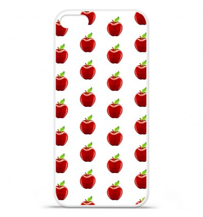 Coque en silicone Apple iPhone SE - Pomme Blanc