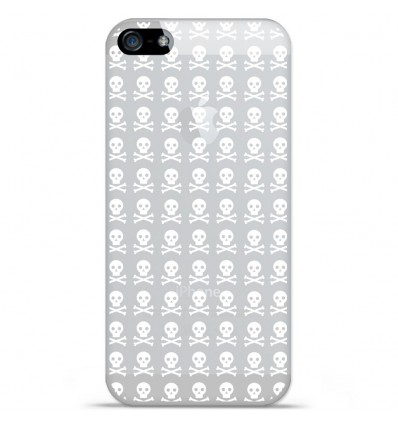 Coque en silicone Apple iPhone SE - Skull blanc