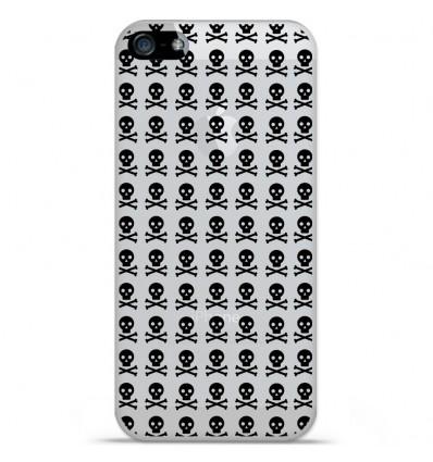 Coque en silicone Apple iPhone SE - Skull Noir