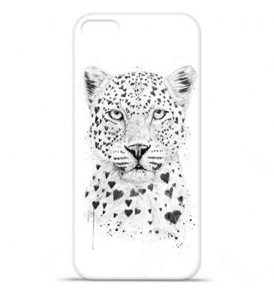 Coque en silicone Apple iPhone SE - BS Love leopard