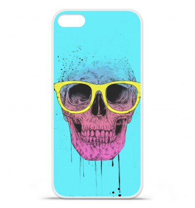 Coque en silicone Apple iPhone SE - BS Skull glasses