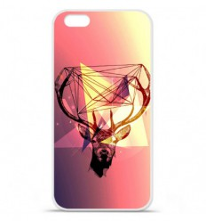 Coque en silicone Apple IPhone 7 - Cerf Hipster