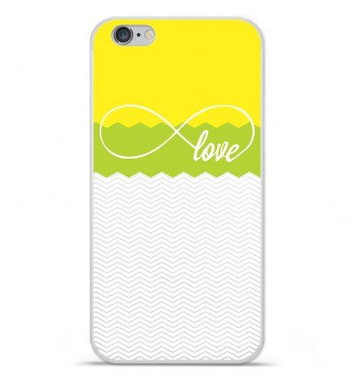 Coque en silicone Apple IPhone 7 - Love Jaune