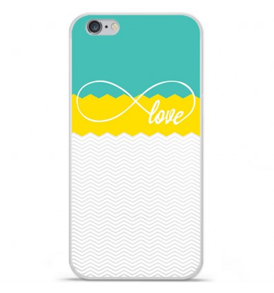 Coque en silicone Apple IPhone 7 - Love Turquoise