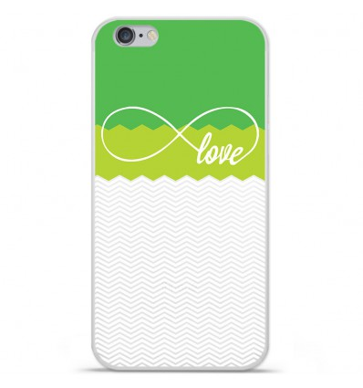 Coque en silicone Apple IPhone 7 - Love Vert