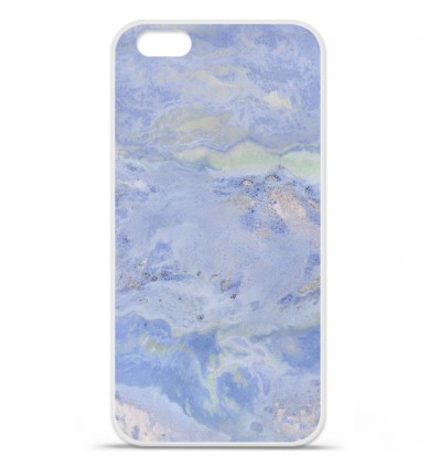 Coque en silicone Apple IPhone 7 - Marbre Bleu