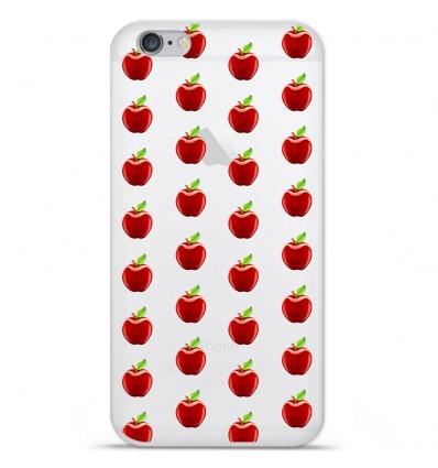 Coque en silicone Apple IPhone 7 - Pommes Gris