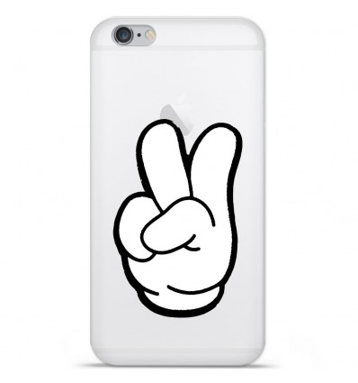 Coque en silicone Apple IPhone 7 - Swag Hand Blanc