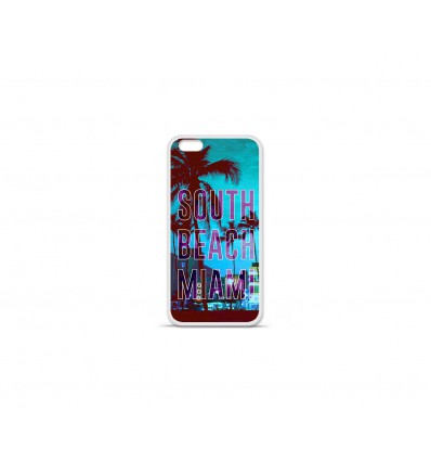 Coque en silicone Apple IPhone 7 Plus - South beach miami