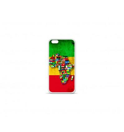 Coque en silicone Apple IPhone 7 Plus - Drapeau Africa Unite