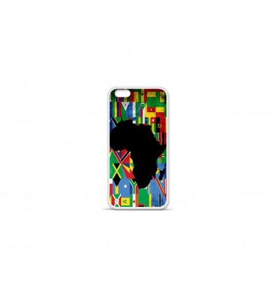 Coque en silicone Apple IPhone 7 Plus - Drapeau Afrique