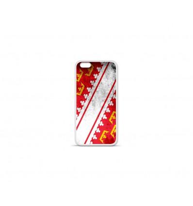 Coque en silicone Apple IPhone 7 Plus - Drapeau Alsace