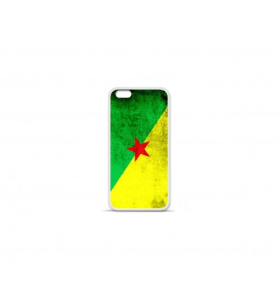 Coque en silicone Apple IPhone 7 Plus - Drapeau Guyane