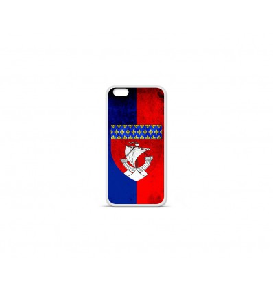 Coque en silicone Apple IPhone 7 Plus - Drapeau Paris