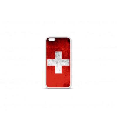Coque en silicone Apple IPhone 7 Plus - Drapeau Suisse
