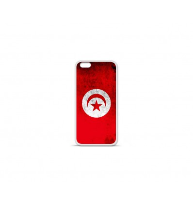 Coque en silicone Apple IPhone 7 Plus - Drapeau Tunisie