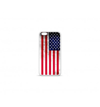 Coque en silicone Apple IPhone 7 Plus - Drapeau USA