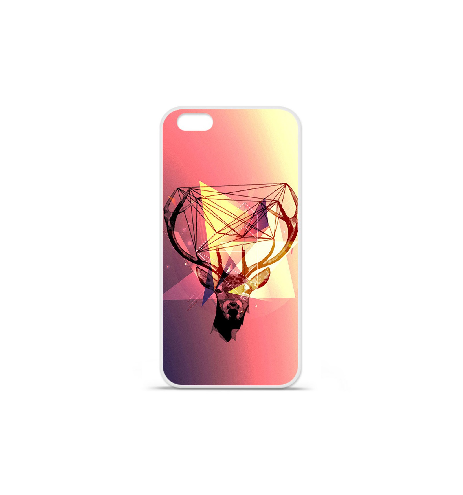 coque en silicone apple iphone 7 plus cerf hipster. Black Bedroom Furniture Sets. Home Design Ideas