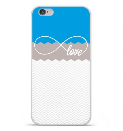 Coque en silicone Apple IPhone 7 Plus - Love Bleu