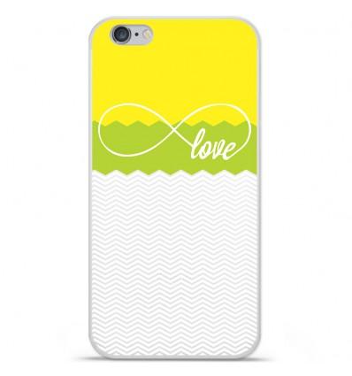 Coque en silicone Apple IPhone 7 Plus - Love Jaune