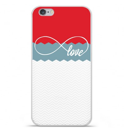 Coque en silicone Apple IPhone 7 Plus - Love Rouge